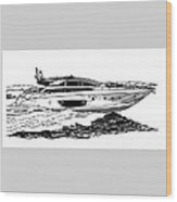 Fast Riva Motoryacht Wood Print
