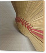 Fastball Wood Print