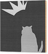 Fat Cat Three Wood Print