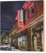 Fat City Cafe Wood Print