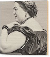 Fat Lady, 19th Century Wood Print