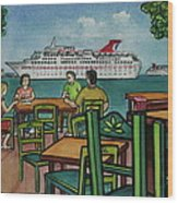 Fat Tuesdays In Cozumel Yucatan Mexico Wood Print