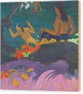 Fatata Te Miti.by The Sea Wood Print