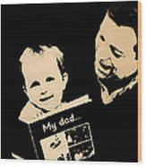 Father And Child Wood Print