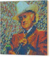 Father Of Blue Grass Wood Print