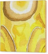 Father Sun Wood Print by Sarah E Kohara