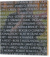 Fathers Sons And Brothers Of The Wall Wood Print
