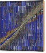Fault Line Blues Wood Print