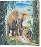Faune D'afrique Centrale 01 Wood Print