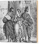 Faust: Mephistopheles 1828 Wood Print