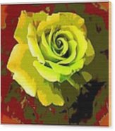 Fauvism Roses Triptych Wood Print