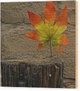 Faux Leaf Wood Print