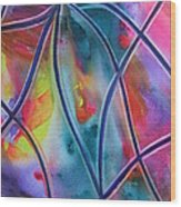 Faux Stained Glass II Wood Print