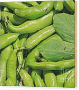 Fava Bean Pods Wood Print
