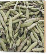 Fava Beans Wood Print