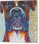 Fawn Boxer Love Wood Print
