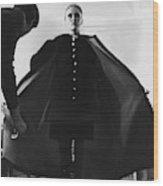 Faye Dunaway Wearing A Melton Coat Wood Print