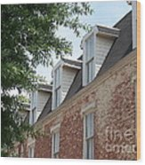 Fayetteville Brick House Wood Print by Kevin Croitz