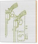 F.b.e Beaumont Revolver Patent Wood Print