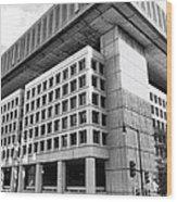 Fbi Building Rear View Wood Print