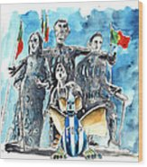 Fcporto In Vila Cha Wood Print