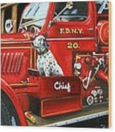 Fdny Chief Wood Print
