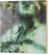 Fdr - 3164 Traveling Pigments Hp Wood Print