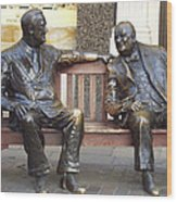 Fdr And Churchill Having A Chat In London Wood Print