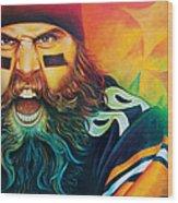Fear Da Beard Wood Print by Scott Spillman