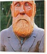 Fear The Beard Golfer Wood Print
