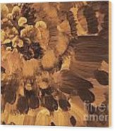 Feather Flower 2 Wood Print