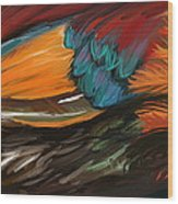Feathers 2 Wood Print