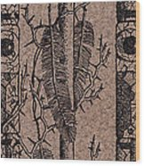 Feathers Thorns And Broken Arrow Bookmark No1 Wood Print