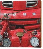 Featured Old Ford  Front On Fire Engine Denmark  Wood Print