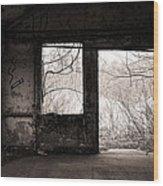 February - Comfortable Seclusion - Self Portrait Wood Print