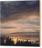 February Sky Wood Print