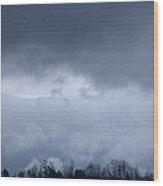February Storm Clouds 2013 Wood Print