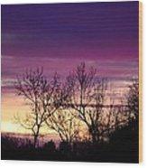 February's Dramatic Sunrise Wood Print