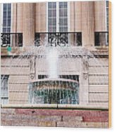Federal Building Fountain Wood Print