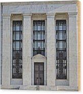 Federal Reserve Wood Print by Susan Candelario