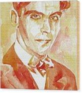 Federico Garcia Lorca Portrait Wood Print