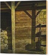 Feed Mill Store Wood Print by Randall Nyhof