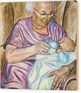 Feeding Baby 1 Wood Print