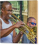 Feel It - New Orleans Jazz  Wood Print