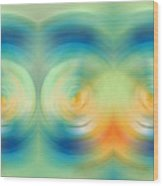 Feel Joy - Energy Art By Sharon Cummings Wood Print