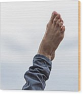Feel  The Skies Under Your Foot - Featured 2 Wood Print