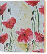 Feel The Summer 1 - Poppies Wood Print
