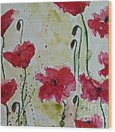 Feel The Summer - Poppies Wood Print by Ismeta Gruenwald