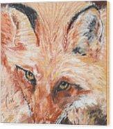 Feeling Foxy Wood Print