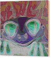 Feeling Froggy V2 Wood Print